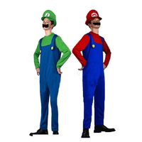 adult & children's  halloween costumes  super mario  costumes   3pcs/set