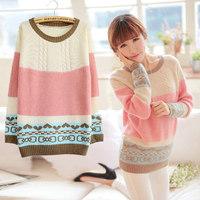 Autumn women's sweater female Women loose sweater female sweater basic pullover sweater outerwear autumn and winter female