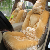 Purple campanula car seat cushion winter plush car cushion car seat auto supplies