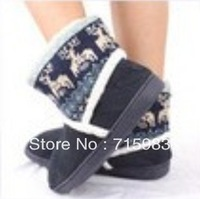 2013 NEW styles Living at home snow boots warm shoes micro suede and Knit boots tube free shipping by china post air mail.
