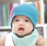 10pcs/lot ! Free Shipping! 17 Colors! Fashion Babys Cap Five Stars Boys Girls Cotton Hat Beanie Chinld Kids Hats Skull Caps