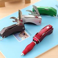 Korea stationery folding lamp pen swiss army knife keychain pen ballpoint pen multifunctional pen