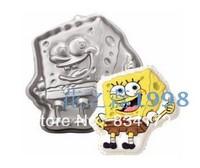 New 1 X  Is the cake mould spongebob aluminum cartoon creative mode