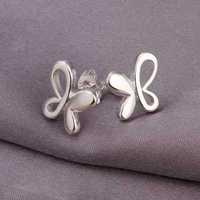 Hot Sale!Free Shipping 925 Silver Earring,Fashion Sterling Silver Jewelry,Cute Zircon Butterfly Earrings SMTE314