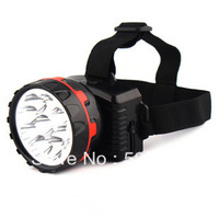 100% Tested Rechargeable 9LED Glare Headlight Miner Lamp Outdoor Camping Light Charge Fishing Hiking Lights
