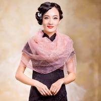 New arrival 2013 elegant silk wool women's rhinestones organza silk scarf moonlight