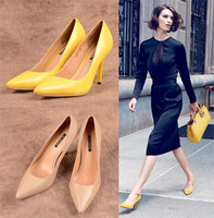Fashion trend genuine leather  high heels pointed  toe  shoes  wedding shoes for women
