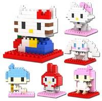 LOZ diamond blocks models&building toys educational enlighten blocks for children gift free shipping hello kitty cat MashiMaro