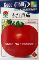 Free Shipping 1 Original bag NX round crimson tomato seed * 2g 400+ pcs Organic vegetables red tomato seeds, 200-300g per fruit