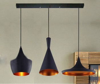A set of TOM Dixon Beat- (3PC)Tall,Fat,Wide Pendant Lamp Ceiling Lighting 3 x E27 Light Bulb