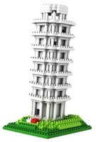 Free shipping LOZ landscape architecture plastic building blcoks set the Leaning Tower of Pisa legolands blocks