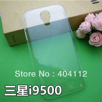 10pcs crystal clear hard case for samsung Galaxy S4 i9500, Transparent case for S4, hard case for i9500