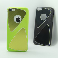 Newest arrive Metal Aluminum Brushed Chrome Hard back cover Case For Iphone 5C 100pcs/lot