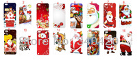 2013 New style 16pcs/lot wholesale hot Christmas Santa Claus hard white case cover for touch5 +free shipping