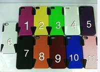 Hybrid Mesh Silicon combo 2 in 1 Back Cover For iPhone 5 wholesale phone Case 550pcs/lot