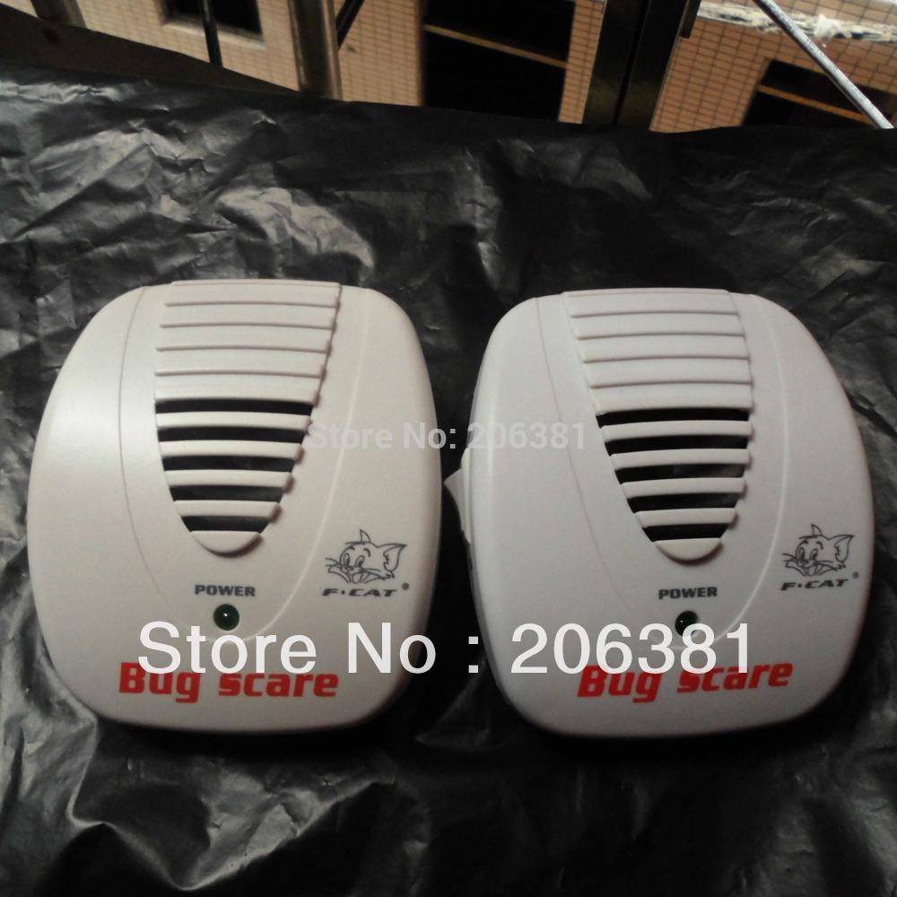 2Pcs EU / US Standard Plug Ultrasonic Mini Mouse mosquito Repeller Smart Bug Scare Household Device 90 ~ 250V AC Free Shipping(China (Mainland))