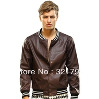 Free Shiping,2013 Autumn men's casual clothing jacket outerwear male thin casual slim terylene
