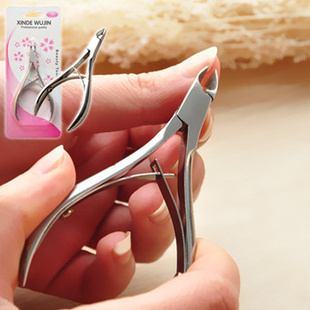 Free shipping 3pcs/lot Stainless Steel Cuticle Nail Art Nipper Clipper Manicure Plier Cutter Tool Hot Sale MK-08(China (Mainland))