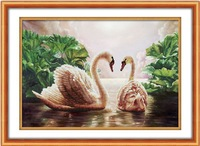 Free Shipping Diy Embroidery Cross Stitch Sets Cross Stitch Kits Home Decor Crafts Art Swan lake Secret