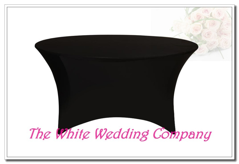 10 BLACK 5ft Round Strenth Spandex Table Covers Cheap Round Tablecloths Round Table Covers Wedding Tablecloth Free Shipping(China (Mainland))