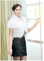 Free shipping-2013 fashion winter  fur vest fur coat outerwear short design womens C0029