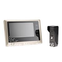 7 Inch video door phone LCD Monitor Touch Key Video DoorPhone Cmos Night Version Camera video intercom system Video Door Bell