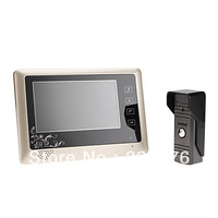 7 Inch video door phone LCD Monitor Touch Key Video DoorPhone Cmos Night Version Camera video intercom system Video Door Bell