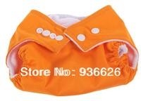 Adjustable Reusable Baby Cloth Diaper Nappy ORANGE Color 1PCS