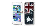 DHL  Free Shipping  top quality Vintage Australian Flag Rhinestone Plastic Case for iPhone 5C 100pcs/lot