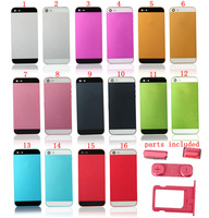 Colorful Four-piece Assembly Middle Frame Metal Back Battery Full Housing for iPhone 5 5G, 10Pcs/Lot + Back With Brand LOGO