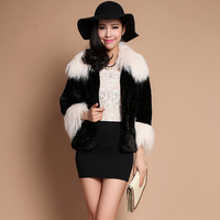 2013 berber fleece beach wool rabbit fur faux female medium-long outerwear