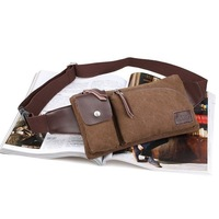 Free Shipping Male Canvas bag Men Messenger Bags purse waist bag fanny pack