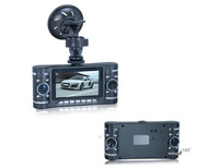 Double Lens Car DVR HD720P with 2.7 inch LCD and G-sensor GPS as options