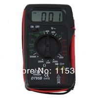 free shipping 5sets/lot DT95B LCD Display Digital Multimeter Meter AC DC Voltmeter Ammeter Ohmmeter