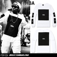 Hood by air hba x been trill kanye west 100% cotton long-sleeve T-shirt basic tee