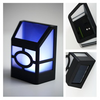 3pcs Solar Powered Wall Mount 2 LED Lantern Light Outdoor Landscape Garden Lamp