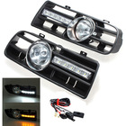 Bumper Grille Grill Driving LED Fog Lamp Lights for VW GOLF 4 TDI MK4 IV 1997-2006 Free shipping(China (Mainland))