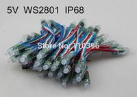 12mm 50 node/string dc 5v waterproof ip66 full color addressable ws2801 rgb led pixel module,addressable each pixel