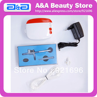 Airbrush Makeup Complete Set: 1pc Cosmetic Mini Compressor+ 1pc Single Action Airbrush + 1pc Air Hose /  with LED lighting