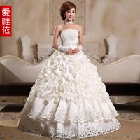 2013 luxury paillette wedding dress quality satin lace princess