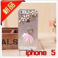 For iphone4S/4/5 stick the protecting sleeve ballet mobile phone shell