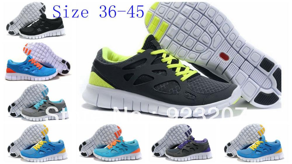 Atacado 2013 novos homens baratos Free Run + 2 Barefoot esporte Running Shoes comprar moda feminina respirável Sneakers on line(China (Mainland))