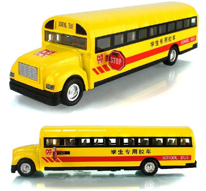 Mini car model Alloy car models artificial car model toy school bus big car bus acoustooptical(China (Mainland))