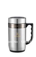 High Quality 304 stainless steel double wall 480ML magnetization round office vacuum mug with filter-keep hot /cold 16 hours