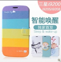 Luxury New design pattern transparent side case cover for Samsung Galaxy Mega 6.3 inch i9200 FREE SHIPPING