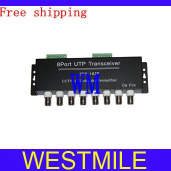 Passive UTP Video Balun BNC CCTV 8 Channel No Power CCTV Transceiver Surveillance Equipment Accessories Free shipping