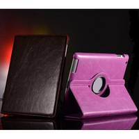 Fashion 360 Degree Rotating Magnetic PU Leather Stand Smart Case Cover for ipad 2 3 4,1pcs/lot,free shipping