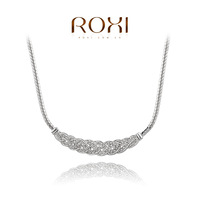 ROXI Delicate necklace  plated with AAA zircon,fashion  rose golden jewelry for women party,new 2013 style,gifts,2030001630