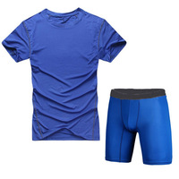 S-XXL Men Basketball Sport Suits Compression Base Layers Under Tops Shirts Skins Gear Wear Sport Vest Tees+Tight Pants Shorts