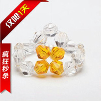 V1123 austria crystal ring knitted diy crystal ring accessories ring